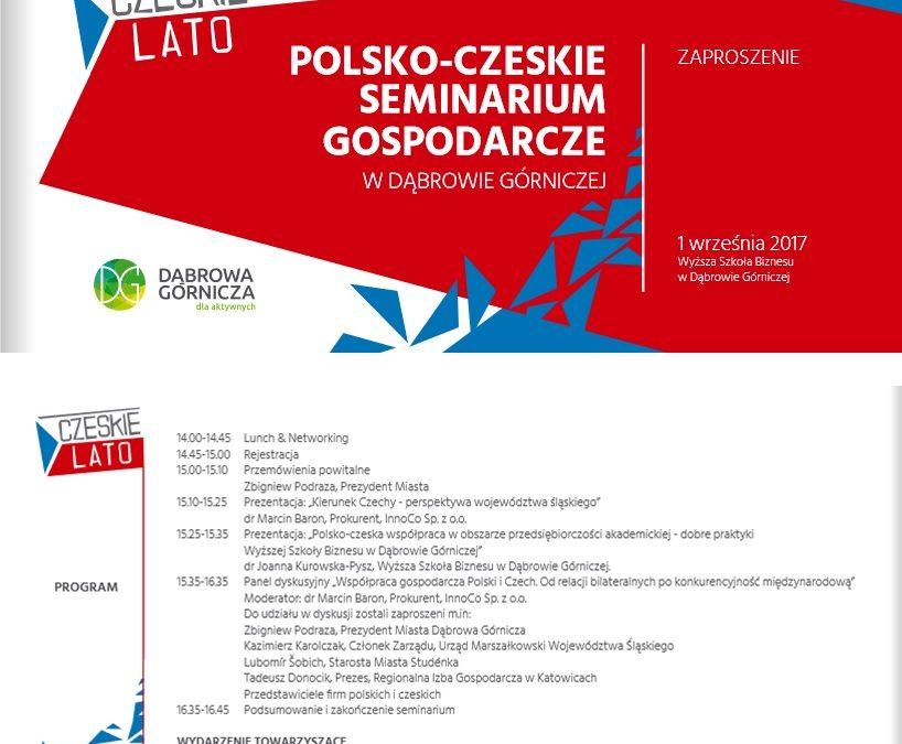 Polsko- czeskie seminarium gospodarcze już 1 września!