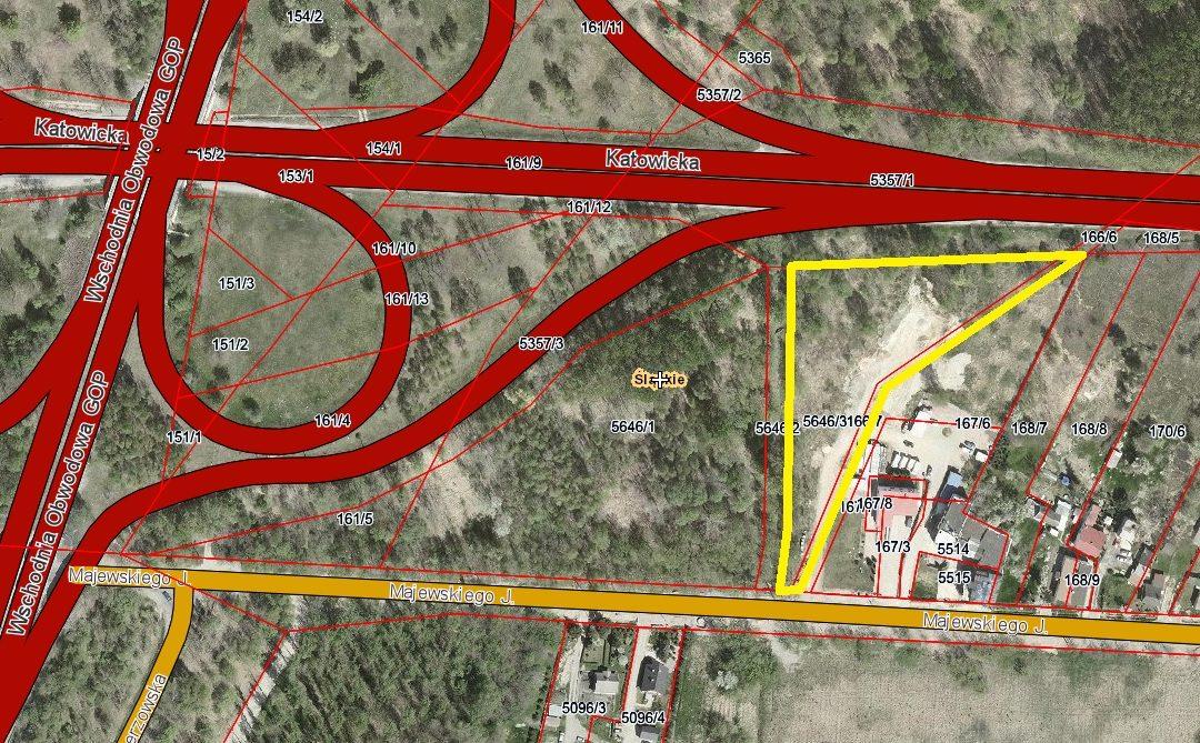 MAJEWSKIEGO – nieruchomość gruntowa niezabudowana przeznaczona pod zabudowę usługową (w przygotowaniu)