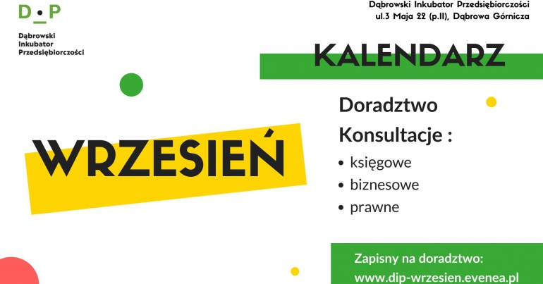 Wrzesień w Dąbrowskim Inkubatorze Przedsiębiorczości