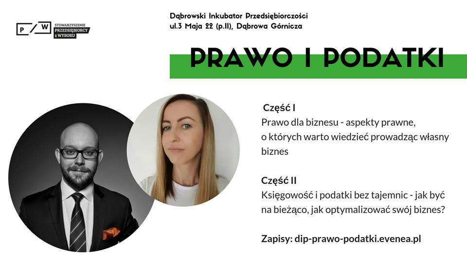 Dąbrowski Inkubator Przedsiębiorczości zaprasza na cykl szkoleń skierowanych do osób prowadzących firmę lub planujących ją założyć!