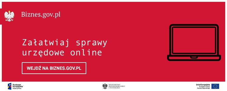 Załatwiaj sprawy online na www.biznes.gov.pl