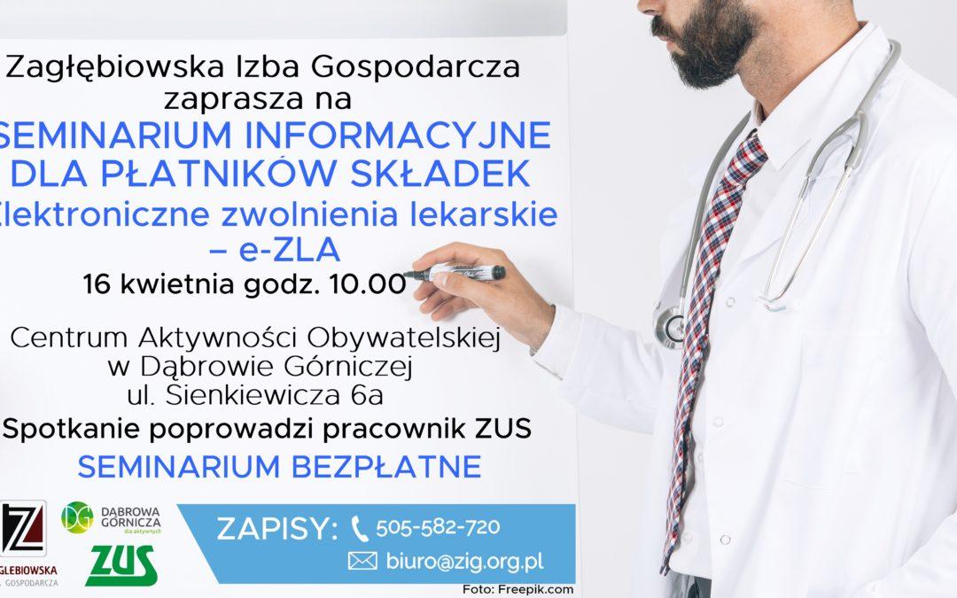Elektroniczne zwolnienia lekarskie – e-ZLA – szkolenie dla płatników składek
