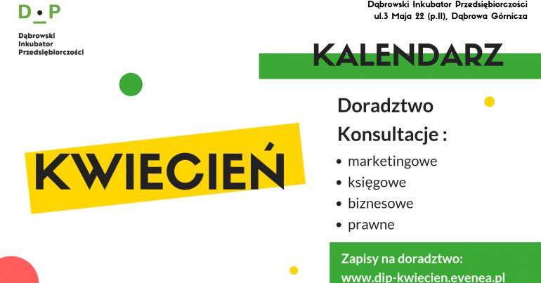 Kwietniowe konsultacje w Dąbrowskim Inkubatorze Przedsiębiorczości