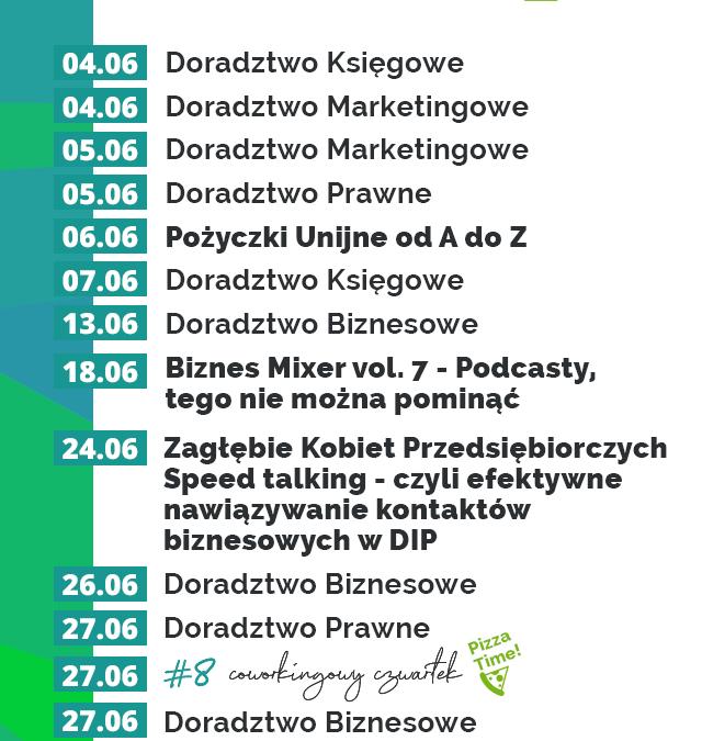 Czerwiec w Dąbrowskim Inkubatorze Przedsiębiorczości