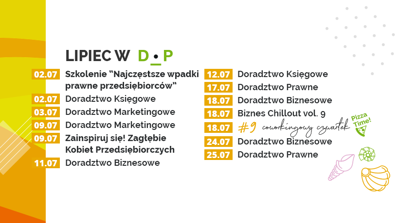 Lipcowe konsultacje w Dąbrowskim Inkubatorze Przedsiębiorczości