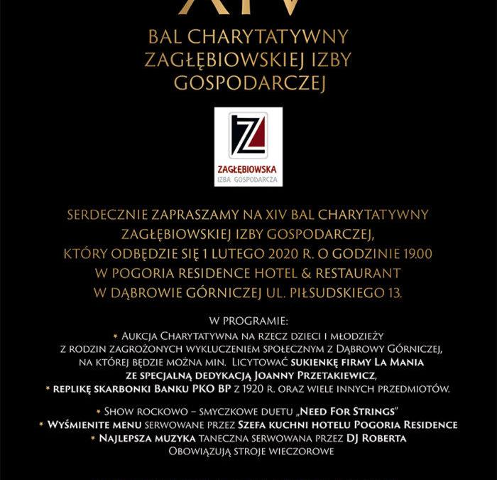 XIV Bal Charytatywny Zagłębiowskiej Izby Gospodarczej