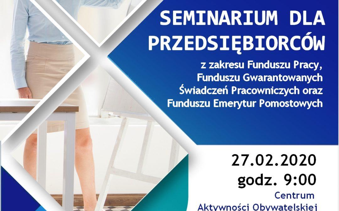 Seminarium dla Przedsiębiorców
