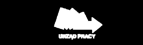 Logo białe PUP - Powiatowy Urząd Pracy w Dąbrowie Górniczej