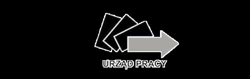 Logo monochromatyczne PUP - Powiatowy Urząd Pracy w Dąbrowie Górniczej