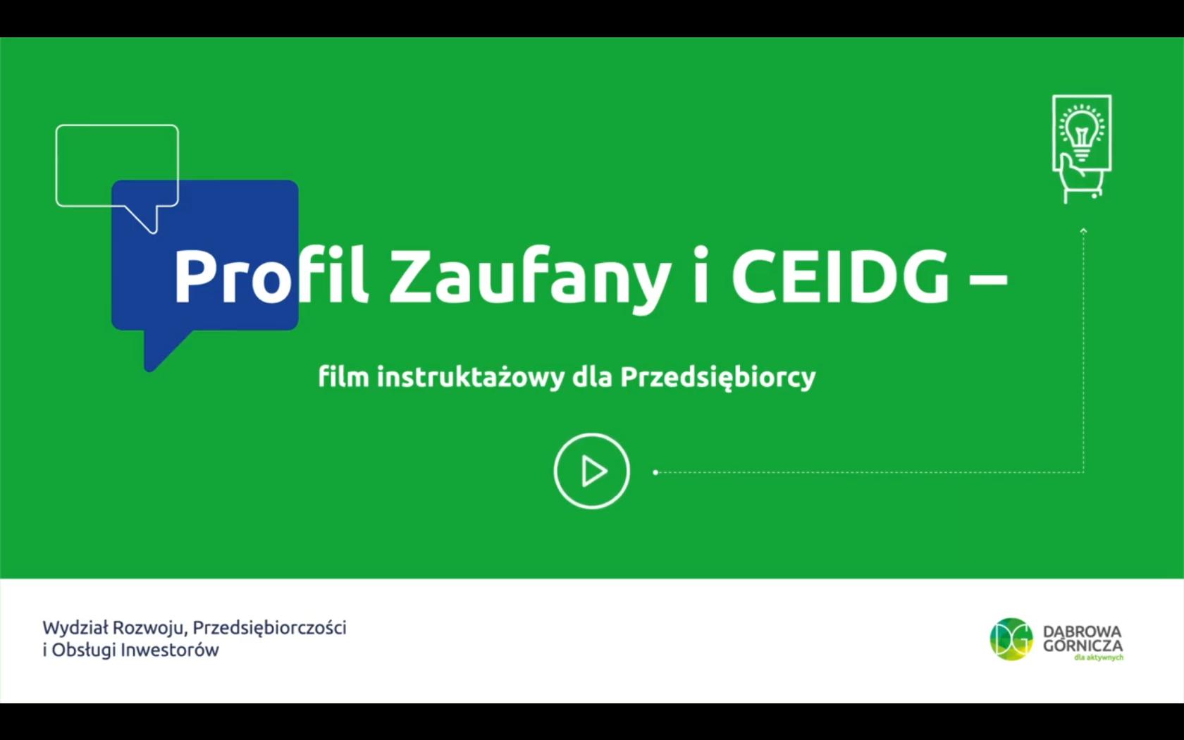 Profil zaufany i CEIDG - film instruktażowy